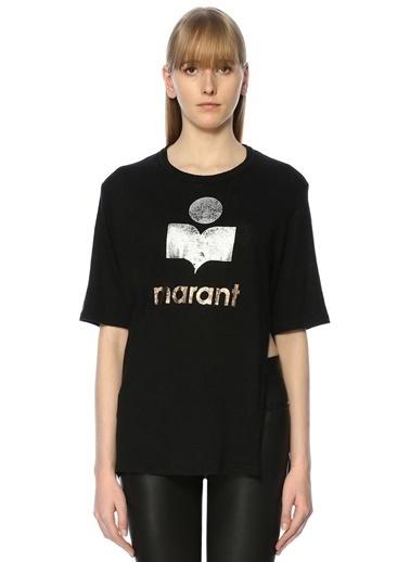 Etoile Isabel Marant Baskılı Tişört Siyah